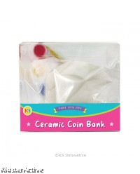 Ceramic Coin Bank Painting - Small