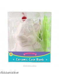 Ceramic Coin Bank Painting - Large