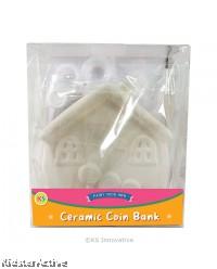 Ceramic House Coin Bank