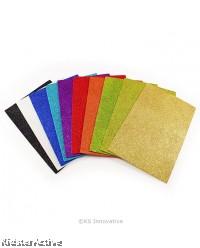 EVA Glitter Foam Sheet - Pack of 10