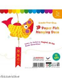 3D Paper Koi Fish Deco - Pack of 12