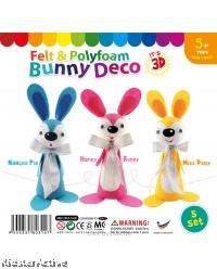 Felt & Polyfoam Bunny Deco Kit 5 Pack