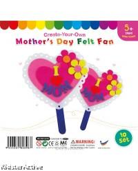 Felt Mother's Day Fan - Pack of 10