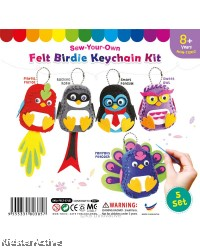 Felt Birdie Keychain Pack of 5
