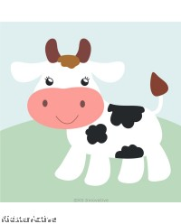 Canvas Art Small - Cow