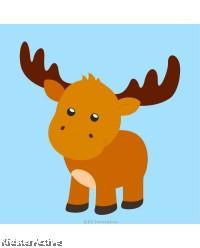 Canvas Art Small - Moose