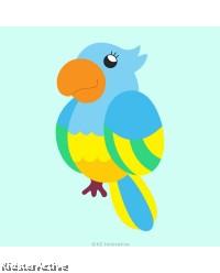 Canvas Art Small - Parrot