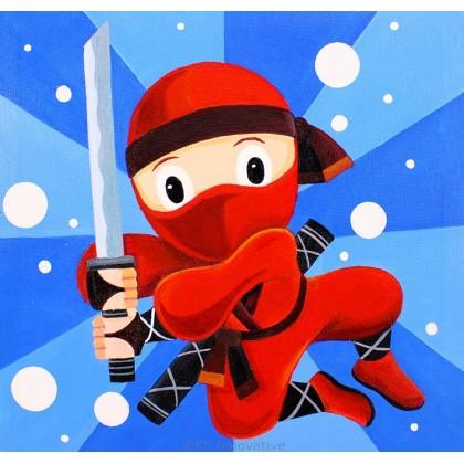 Canvas Art - Red Ninja