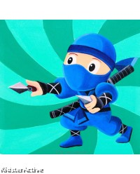 Canvas Art - Blue Ninja