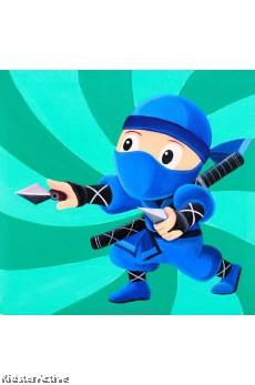 Canvas Art - Blue Ninja