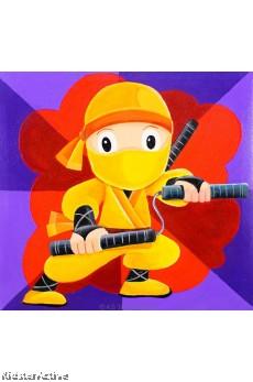 Canvas Art - Yellow Ninja