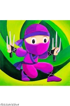 Canvas Art - Purple Ninja