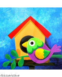 Canvas Art - Bird House