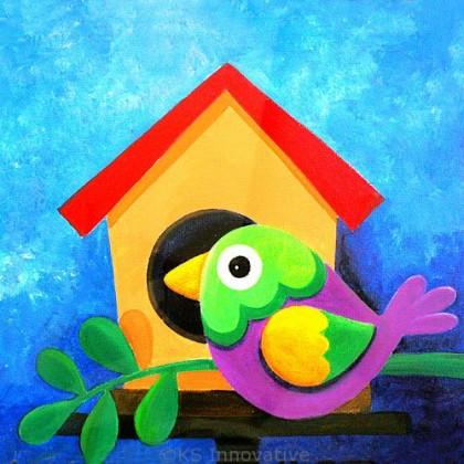 Canvas Art - Bird House