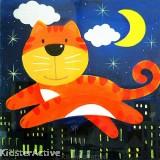 Canvas Art - Cat
