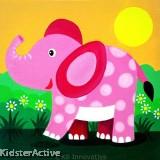 Canvas Art - Elephant