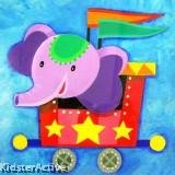 Canvas Art - Party Elephant