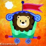Canvas Art - Party Lion