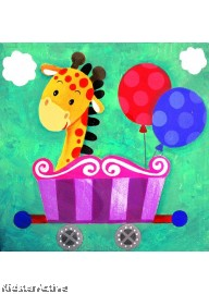 Canvas Art - Party Giraffe
