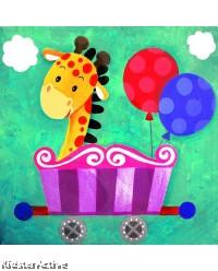 Canvas Art - Party Giraffe