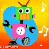 Canvas Art - ECG Robot