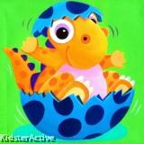 Canvas Art - Baby Dino