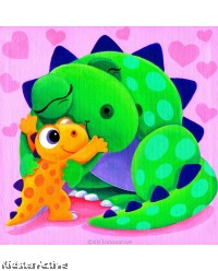 Canvas Art - Mom and Baby Dino
