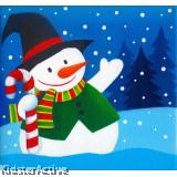 Canvas Art - Snowman