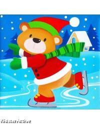 Canvas Art - Snow Bear