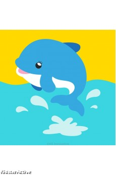 Canvas Art Small - Dolphin