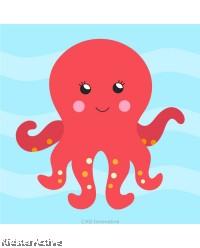 Canvas Art Small - Octopus