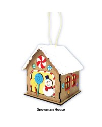 Christmas House Lantern Kit - Santa / Snowman