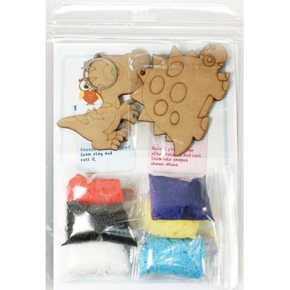 Foam Clay 2-in-1 Dinosaur Keychain Kit