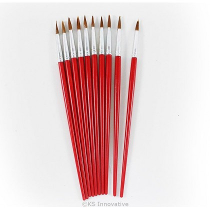 Paint Brush (Red) Pack of 10
