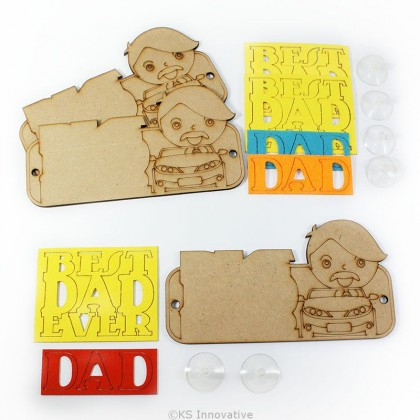 Father's Day Deco With Suction Pack of 3