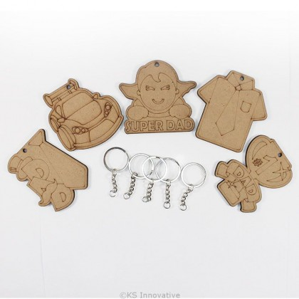 Father's Day Keychain Pack of 5