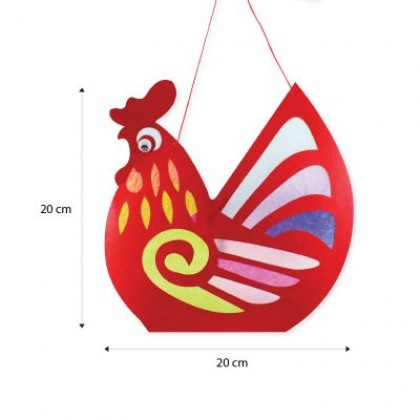 Rooster Lantern Pack of 10 - With LED Lights