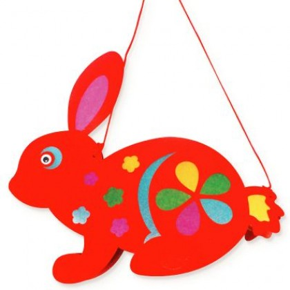 Rabbit Lantern Pack of 10 - With LED Lights