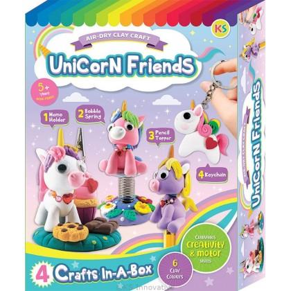 Unicorn Friends Clay Box Kit - 4-in-1