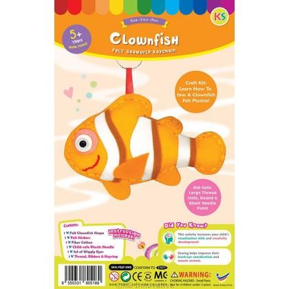 Felt Seaworld Plushie Kit - Clownfish