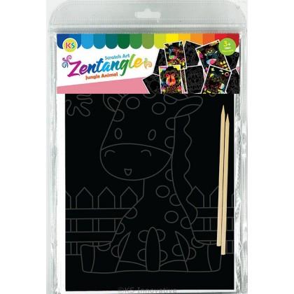 Scratch Art Creative Tangle - Awesome Dino Kit