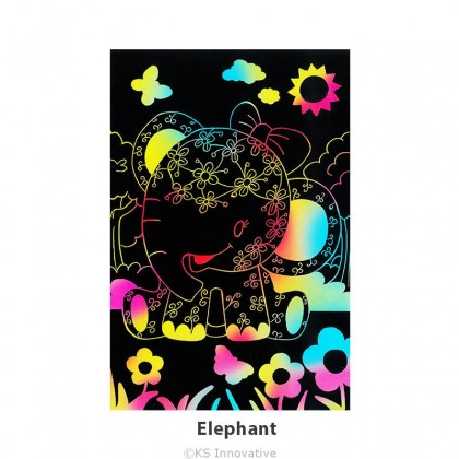 Scratch Art Creative Tangle - Jungle Animal Kit