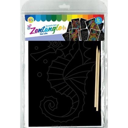Scratch Art Creative Tangle - Sealife Kit