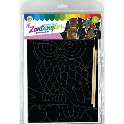 Scratch Art Creative Tangle - Fabulous Bird Kit